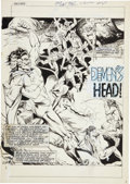 Original Comic Art:Splash Pages, Sonny Trinidad Son of Satan #3 Splash Page 1 Original Art(Marvel, 1976)....