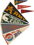 Miscellaneous Collectibles:General, 1960's-70's Pennants Lot of 7....