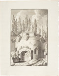 Antiques:Posters & Prints, Bonaventure D'Overbeke. Engraved Illustrations of Ancient Roman Temples. Plate mark 10.5 x 15.75 inches, sheet size 16 x 20.... (Total: 4 Items)