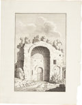 Antiques:Posters & Prints, Bonaventure D'Overbeke. Engraved Illustrations of Ancient RomanTemples. Plate mark 10.5 x 15.75 inches, sheet size 16 x 20....(Total: 4 Items)