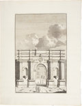 Antiques:Posters & Prints, Bonaventure D'Overbeke. Engraved Illustrations of Ancient RomanArched Portals. Plate mark 10.5 x 15.75 inches, sheet size 1...(Total: 3 Items)