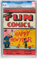 Platinum Age (1897-1937):Miscellaneous, More Fun Comics #17 (DC, 1937) CGC VG+ 4.5 Cream to off-whitepages....