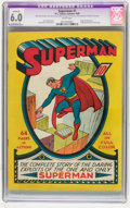 Golden Age (1938-1955):Superhero, Superman #1 (DC, 1939) CGC Apparent FN 6.0 Extensive (P) White pages....