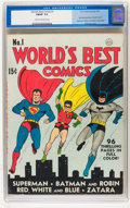 Golden Age (1938-1955):Superhero, World's Best Comics #1 (DC, 1941) CGC FN/VF 7.0 Cream to off-white pages....