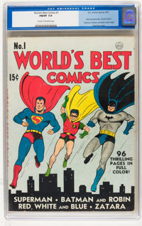 World's Best Comics #1 (DC, 1941) CGC FN/VF 7.0 Cream to off-white pages