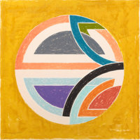 FRANK STELLA (American, b. 1936) Sinjerli Variation Squared with Colored Ground 1A, 1981 Color offse
