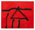 Fine Art - Work on Paper:Print, ROBERT MOTHERWELL (American, 1915-1991). Dance III (Red),1978. Color etching and aquatint . 2...