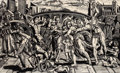 Post-War & Contemporary, ERIC AVERY (American, b. 1948). Massacre of the Innocents,1984. Linoleum cut. 36 x 59 inches (91.4 x 149.9 cm). Ed. 5/2...