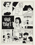 "Original Comic Art:Panel Pages, Jaime Hernandez Hernandez Satyricon ""War Paint"" Splash Page1 Original Art (Fantagraphics, 1994)...."
