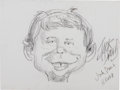 Original Comic Art:Sketches, Jack Davis Alfred E. Neuman Sketch Original Art (2001). . ... (Total: 2 Items)