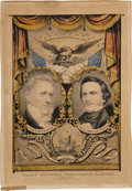 """Political:Posters & Broadsides (pre-1896), Buchanan & Breckinridge: Colorful Currier & Ives """"Grand National Banner"""" from the 1856 Campaign...."""