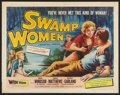 "Movie Posters:Bad Girl, Swamp Women (Woolner Brothers, 1956). Half Sheet (22"" X 28"") StyleA. Bad Girl.. ..."