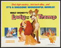"""Movie Posters:Animated, Lady and the Tramp (Buena Vista, R-1972). Half Sheet (22"""" X 28"""").Animated.. ..."""
