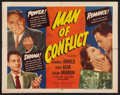"Movie Posters:Drama, Man of Conflict (Atlas, 1953). Half Sheet (22"" X 28""). Drama.. ..."