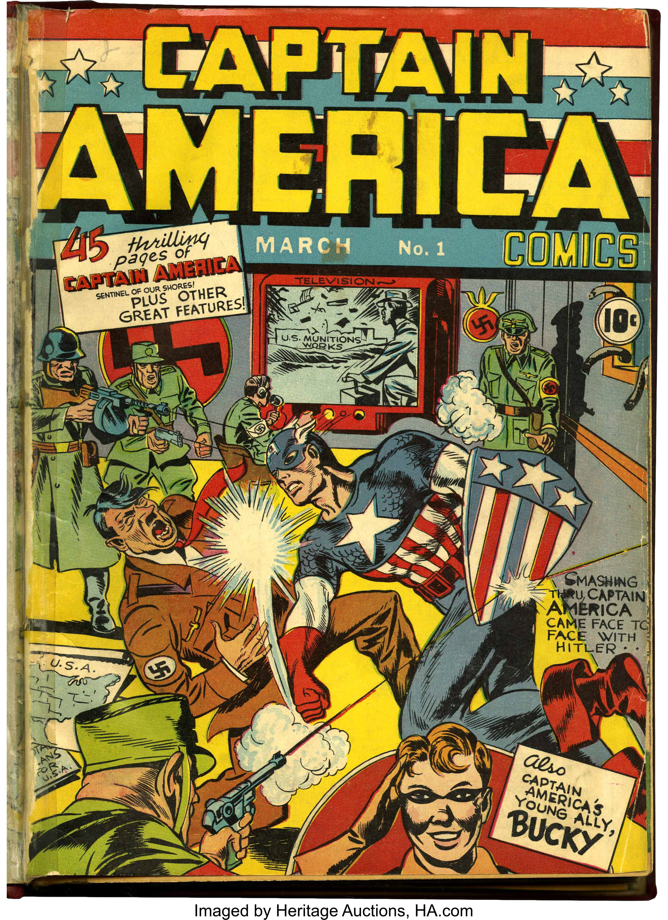 Captain America Comics 1 And 3 10 And More Bound Volume With Lot 91078 Heritage Auctions