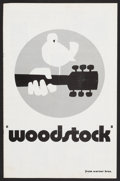 """Movie Posters:Rock and Roll, Woodstock (Warner Brothers, 1970). Pressbook (Multiple Pages, 11"""" X17""""). Rock and Roll.. ..."""