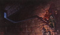Gerald Brom Legacy of the Drow, Collector's Edition Book Cover Original Art (Wizards of the Coast, 2001)