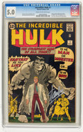Silver Age (1956-1969):Superhero, The Incredible Hulk #1 - Signed by Stan Lee (Marvel, 1962) CGCVG/FN 5.0 Cream to off-white pages....