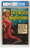 Golden Age (1938-1955):Romance, Intimate Confessions #1 Signed by Everett Raymond Kinstler(Realistic Comics, 1951) CGC FN/VF 7.0 White pages....