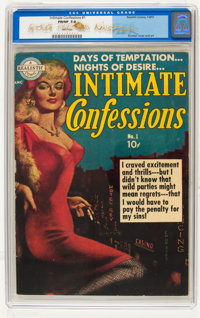 Intimate Confessions #1 Signed by Everett Raymond Kinstler (Realistic Comics, 1951) CGC FN/VF 7.0 White pages