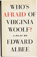 Books:Signed Editions, Edward Albee. Who's Afraid of Virginia Woolf? New York:Atheneum, 1962.. First edition. Signed by Albee on the...