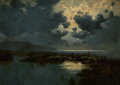 Fine Art - Painting, European:Antique  (Pre 1900), PROPERTY FROM THE WICHITA CENTER FOR THE ARTS. DAVID YOUNG CAMERON(British, 1865-1945). Moonlit Marsh. Oil on panel. ...