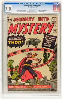 Journey Into Mystery #83 (Marvel, 1962) CGC FN/VF 7.0 Off-white to white pages