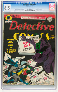 Detective Comics #71 (DC, 1943) CGC FN+ 6.5 White pages