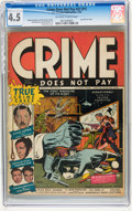 Golden Age (1938-1955):Crime, Crime Does Not Pay #22 (#1) (Lev Gleason, 1942) CGC VG+ 4.5 Off-white to white pages....