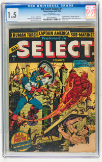 All Select Comics #1 (Timely, 1943) CGC FR/GD 1.5 Cream to off-white pages