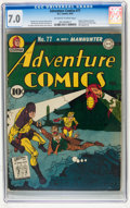Golden Age (1938-1955):Superhero, Adventure Comics #77 (DC, 1942) CGC FN/VF 7.0 Off-white to white pages....