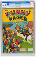 Golden Age (1938-1955):Miscellaneous, Funny Pages #37 (Centaur, 1940) CGC FN+ 6.5 Off-white to white pages....