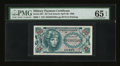 Military Payment Certificates:Series 651, Series 651 First Printing 25c PMG Gem Uncirculated 65 EPQ....