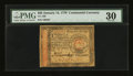 Colonial Notes:Continental Congress Issues, Continental Currency January 14, 1779 $65 PMG Very Fine 30....