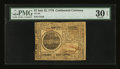 Colonial Notes:Continental Congress Issues, Continental Currency July 22, 1776 $7 PMG Very Fine 30 EPQ....