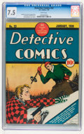 Golden Age (1938-1955):Crime, Detective Comics #23 (DC, 1939) CGC VF- 7.5 White pages....
