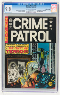 Crime Patrol #15 Gaines File pedigree (EC, 1950) CGC NM/MT 9.8 Off-white to white pages