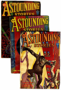 Astounding Stories Group (Clayton, 1932) Condition: Average VG/FN.... (Total: 8 Items)