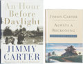 Books:Signed Editions, Jimmy Carter. Two Signed Books, including: Always a Reckoning. [New York:] Times Books, [1995]. [and:] An Hour B... (Total: 2 Items)