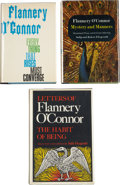Books:First Editions, Flannery O'Connor. Three First Editions, including: EverythingThat Rises Must Converge. [1965]. [and:] Mystery ... (Total:3 Items)