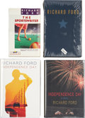 Books:Signed Editions, Richard Ford. Four Signed First Editions, including: The Sportswriter. The 1986 paperback original. [and:] Indep... (Total: 4 Items)
