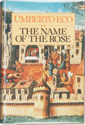 Books:Signed Editions, Umberto Eco. The Name of the Rose. San Diego/New York:Harcourt Brace Jovanovich, [1983]. First English-language edi...