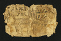 Colonial Notes:North Carolina, North Carolina March 9, 1754 5s Rare Denomination About Good....