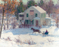 HARRY LEITH-ROSS (American, 1886-1973) The Sleigh Oil on canvas 24 x 30 inches (61.0 x 76.2 cm)