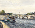 Impressionism & Modernism:post-Impressionism, GASTON SEBIRE (French, 1920-2001). Paris, Pont de laConcorde. Oil on canvas. 29 x 36-1/2 inches (73.7 x 92.7 cm).Signe...