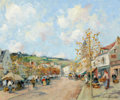 Impressionism & Modernism:post-Impressionism, PAUL EMILE LECOMTE (French, 1877-1977). Marche à Melun; L'Iled'Yeu (2). Oil on canvas. 15 x 18 inches (38.1 x 45.7 cm) ...(Total: 2 Items)