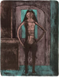 Prints, RUFINO TAMAYO (Mexican, 1899-1991). Femme au Collant Noir (from The Mujeres Suite) 1969. Lithograph on Rives paper. ...