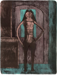 RUFINO TAMAYO (Mexican, 1899-1991) Femme au Collant Noir (from The Mujeres Suite) 1969 Li