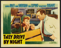 "They Drive by Night (Warner Brothers, 1940). Lobby Card (11"" X 14""). Drama"