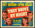 """Movie Posters:Drama, They Drive by Night (Warner Brothers, 1940). Title Lobby Card (11""""X 14""""). Drama.. ..."""